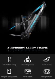 Shengmilo MX03 Ebike Aluminum Alloy Frame